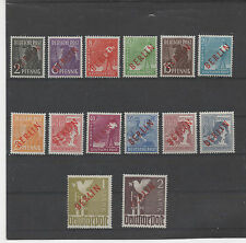 ALLEMAGNE.BERLIN 1948 TIMBRES NEUF.SURCHARGE ROUGE.SIGNE BPP SCHLEGEL N°1 a 18