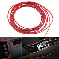 Car Grille Interior Exterior Mouldings Trim Decorative Red Strip Line 5M