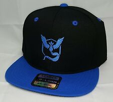 Pokemon GO TEAM MYSTIC Embroidered Snapback Black/Blue Basbeall Hat SNAPBACK CAP