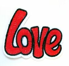 Love Iron On Patch- Novelty Word Badge Peace Hippy Gift Embroidered Applique