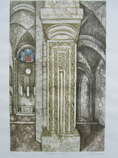 Valerie Thornton RE Limited Edition LARGE Architectural ETCHING pencil signed