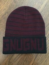 GNU Nug Burton Beanie Hat Toque Sample - Black Red Maroon - AWESOME - RARE