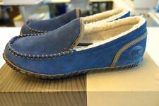 $70 NIB Sorel The Dude Moc Slippers Blue Size 10.5