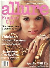 Allure February 2013 Carrie Underwood/Sexiest Lipstick Looks/Longer Lashes/Curly