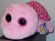 "Ty Beanie Boo Myrtle the Turtle Jumbo 17"", NWT, Pink"