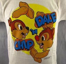 Chip 'N Dale Vintage 1986 T-Shirt Adult Small Walt Disney Puffy S Thin Fabric