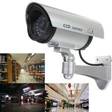 Cámara Camera Falsa Vigilancia Simulada LED CCTV Dummy para Seguridad Exterior
