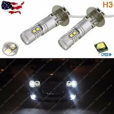 Max 50W 6000K White High Power H3 CREE LED Bulbs For Fog Lights Driving Lamp