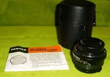 Asahi Optical 1:2 50mm Screw Mount SMC Pentax -M  Camera Lens W/Case and Manual