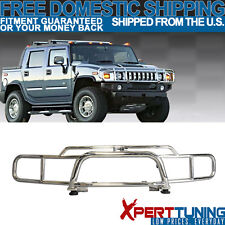 03-09 HuMMer H2 SUV Brush Chrome Grille Guard Double Bars Stainless Steel