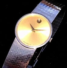 MOVADO CUSTOM ONE OF A KIND LADIES WATCH SOLID 14KT GOLD TWO TONE  j87