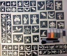 HALLOWEEN glitter tattoo kit,ghost,witch,pumpkin,grim reaper 5 puffers glue.NEW!