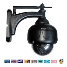 Black Wireless WIFI IP CAMERA Waterproof Outdoor Network Webcam 3x Zoom CCTV PTZ