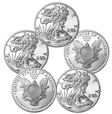 1 oz Sunshine Walking Liberty Silver Rounds - 5 oz Total .999 (New, Lot of 5)