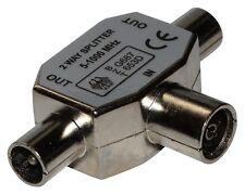 Connecteur fiche raccord splitter FMM min 5MHz max 1000MHz antenne tv télé 9.8mm