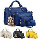 4Stück Shopper Bag Damentasche Handtasche Schultertasche Damen Tasche Tote Neu