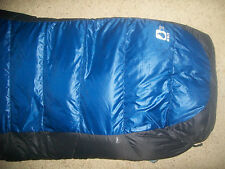 The North Face Blue Kazoo Sleeping Bag 15 F Down Filled Regular Sized Right Zip