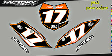 KTM SXF SX 2016-2017 125-450 Pre Printed Number plate Backgrounds Accel SERIES