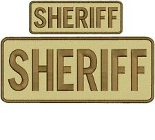 SHERIFF embroidery patch  4x10 and 2x6hook on back