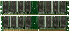 Low Density 2GB KIT 2x1GB PC3200 DDR400 Dual Channel 184pin DIMM Memory DDR1