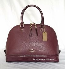 COACH Sierra Satchel Leather Oxblood Red Crossbody Shoulder Handbag Purse F54664