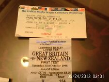 rugby league tickets @ huddersfield australia v fiji & gt britain v new zealand