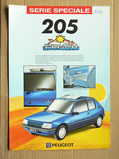 Prospectus  PEUGEOT 205 ZENITH  1992  catalogue   brochure car prospekt