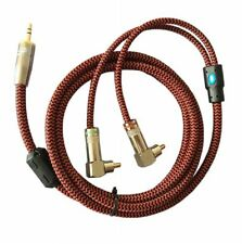 Hifi 3.5mm TRS Jack to Right Angle Dual RCA Phono Male Speaker Cable 1M