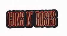 GUNS N ROSES RED BLACK LOGO IRON ON / SEW ON PATCH Embroidered Badge PT125 MUSIC