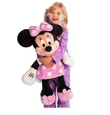 "Disney Authentic Patch Pink Polka Dot Minnie Mouse BIG Jumbo Plush 27"" Toy Doll"