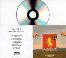 BLIND PILOT And Then Like Lions 2016 UK 10-trk promo test CD