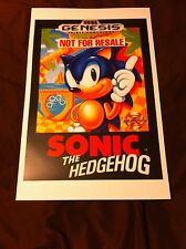 Sonic the Hedgehog 11x17 Box Art Poster - Sega Genesis No Game -