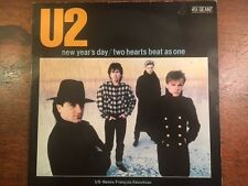 """U2 NEW YEARS DAY + 2 Hearts 12"""" Single -'83 Kevorkian Remix-Rare French Import"""