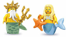LEGO Minifigures - Series 7 Ocean King AND Series 9 Mermaid  -  New and Mint