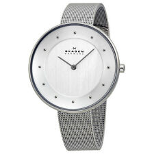 Skagen Gitte White Dial Stainless Steel Mesh Ladies Watch SKW2140