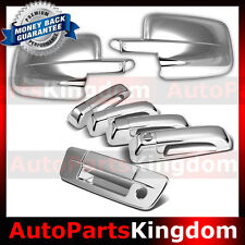 09-16 Dodge RAM Truck Pic up Chrome Mirror+4 Door Handle+Tailgate+Keyhole Cover