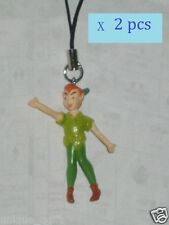 2pcs x Peter Pan CELL PHONE STRAP BAG CHARM KEY CHAIN  US un103