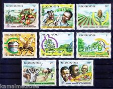 Food Day Hunger Cattle Bee Fish Fruit Crops Vegetables, Rwanda 1982 MNH 8 - Bc02