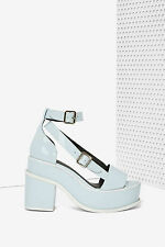 YES Agate Patent Leather Platforms size 8 new with box nasty gal