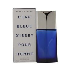 MEN L'eau Bleue D'issey Pour Homme by Issey Miyake EDT Spray 4.2 oz 125 ML NIB