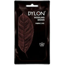 WOODLAND BROWN DYLON HAND WASH FABRIC CLOTHES DYE 50g TEXTILE PERMANENT COLOUR