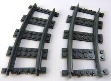 Lego City Eisenbahn 2 gebogene Schienen für RC Bahn (sch-30)