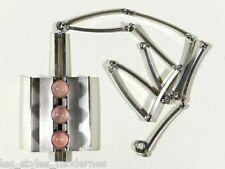 N.E. FROM Denmark Silber Rosenquarz 60's Anhänger / Collier