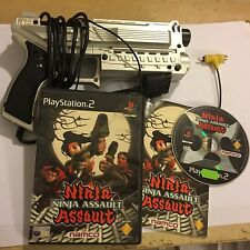 Sony PLAYSTATION 2 PS2 4 gammers XK10 Light Blaster Gun + NINJA ASSAULT GIOCO