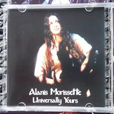 "ALANIS MORISSETTE ""UNIVERSALLY YOURS"" PRO SOURCED SILVER DISC CD WITH COLOR BOOK"