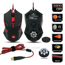 Redragon Centrophorus M601 3200DPI USB Gaming Mouse 6 Buttons Weight Tuning PC