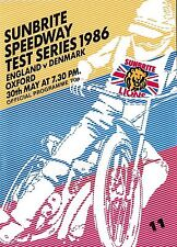 Speedway Programme ENGLAND v DENMARK May 1986 @ Oxford