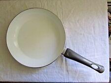"Bialetti Aeturnum 10.25"" Ceramic Skillet Frying SAUTE Pan Grey Good Used NO LID"