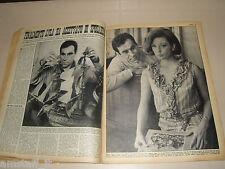 ALBERTO LUPO LYLA ROCCO clipping ritaglio articolo foto photo GENTE 1964/15