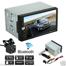"7""Double 2 Din Auto Stereo MP5 MP3 Player Radio Bluetooth USB AUX Rückfahrkamera"